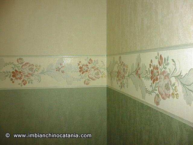 Coordinato parato vinilico pittura decorazione - Parato per camera da letto ...